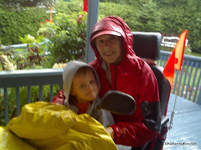 Photo: Joshua and Nanny.... riding in the rain, 2 hr journey home!  But we made it! We sang Wiggles songs all the way home.