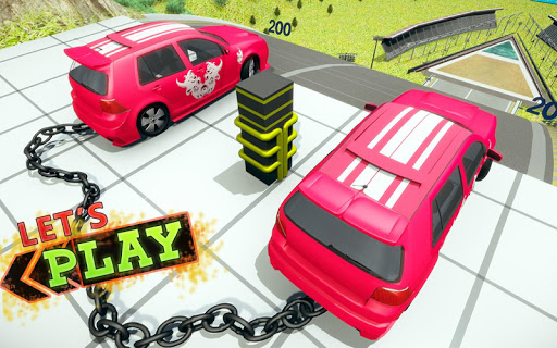 Chained Car Crash Beam Drive: Accident Simulator ss1