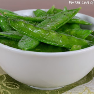 Garlicky Snow Peas Recipe