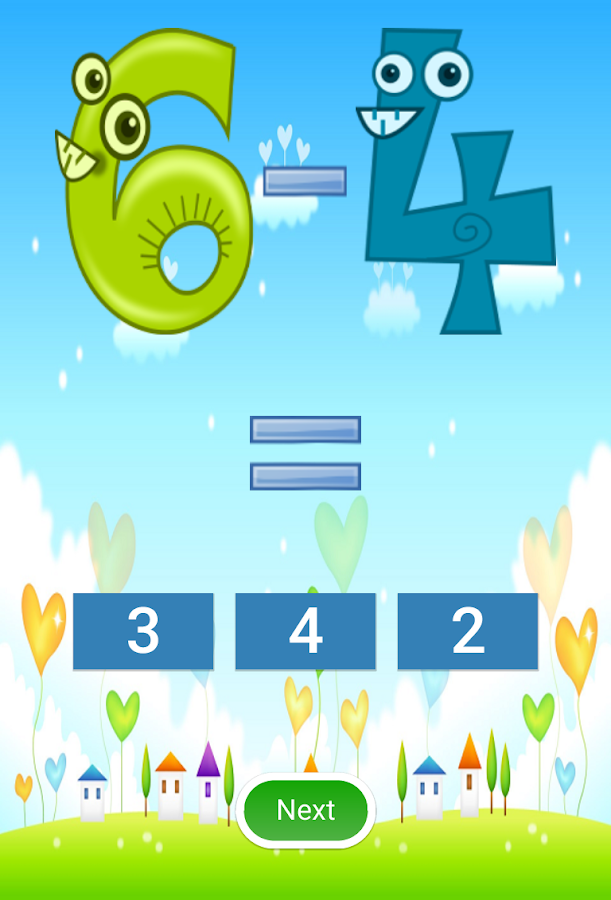 Addition and Subtraction- screenshot