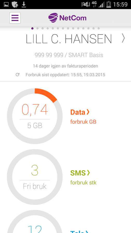 Mitt Netcom - screenshot
