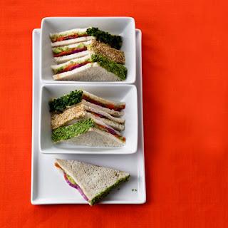 Smoked Salmon-Wasabi Tea Sandwiches.