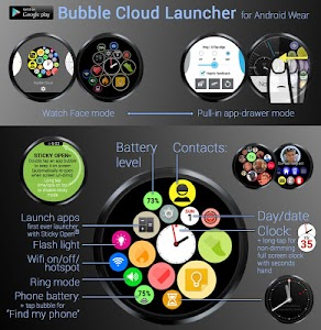 Bubble Widgets + Wear Launcher screenshot 19