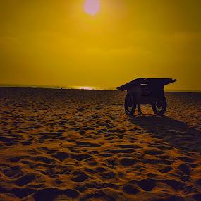Beach by Harish Kumar K - Landscapes Beaches ( beach, elliot, silhouoette, chennai,  )