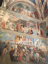 Le Storie della Vera Croce van Piero della Francesca in de Capella Bacci (parete sinistra), Basilica di San Francesco, Arezzo