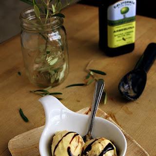 Olive Oil Gelato with Balsamic Swirl
