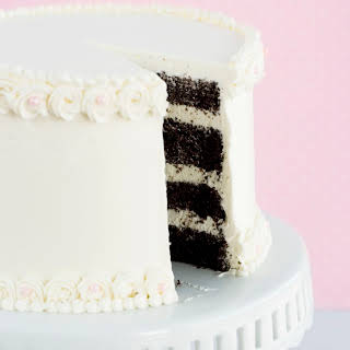 Think – {Chocolate Cake with Vanilla Italian Meringue Buttercream}.