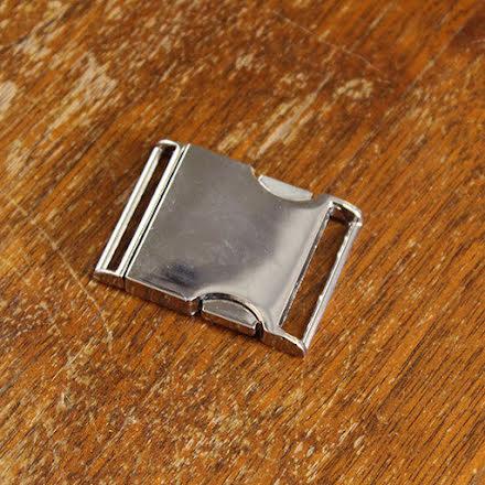 Metallspänne 25mm - silver