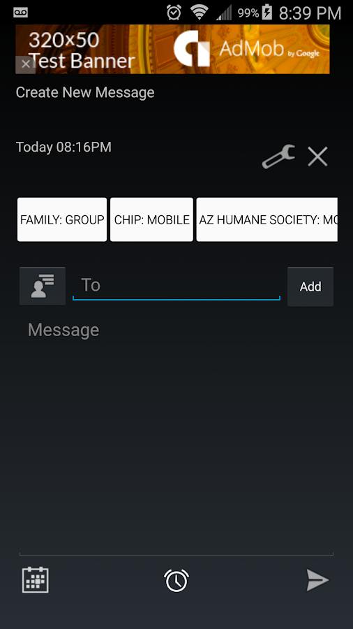 Text Message Scheduler- screenshot