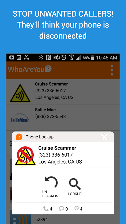WhoAreYou Caller ID + Blocker- screenshot