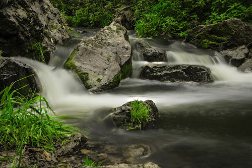 wild creek by Thurisaz Photography - Landscapes Waterscapes ( outdoor, creek, rocks, nature, grass, waterfall, long exposure, water, wild, stone,  )
