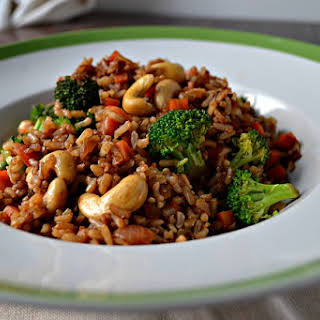 Cashew Vegetable Fried Rice.