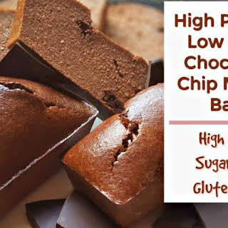 High Protein Low Carb Chocolate Chip Muffin Bars.