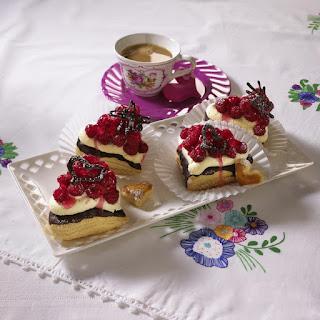 Easy Chocolate Raspberry Cream Puffs.
