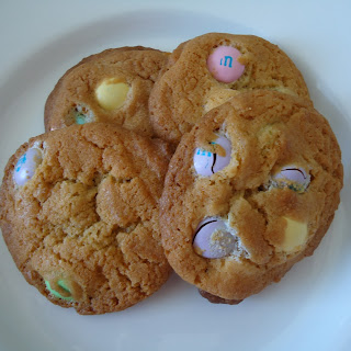 M & M Cookies made with Easter M & Ms