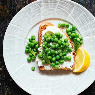 Sweet Pea, Mint and Goat Cheese Toast