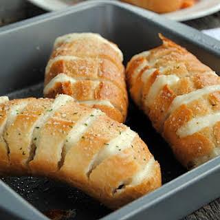 Mozzarella Stuffed Garlic Rolls.