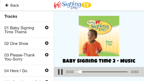 Signing Time TV- screenshot thumbnail
