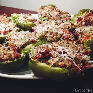 Italian Sausage Stuffed Bell Peppers.