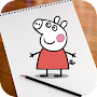 Learn to Draw Peppa Pig APK icon