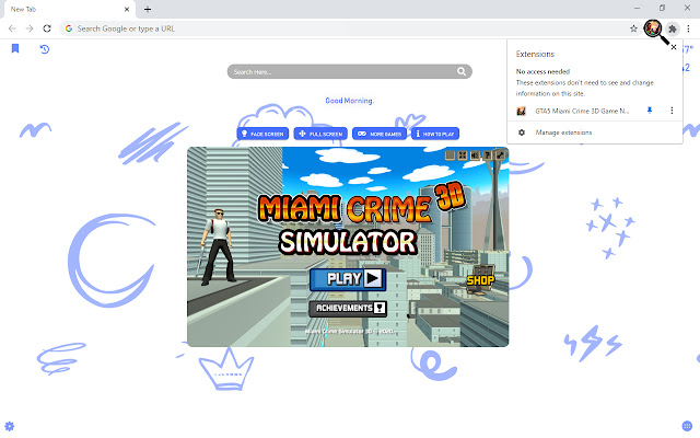 GTA5 Miami Crime 3D Game New Tab