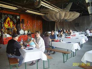 Photo: im Hangar des Segelflugplatz fand das ganze statt