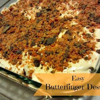 Easy Butterfinger Dessert.