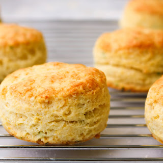 Chives and Parmesan scones