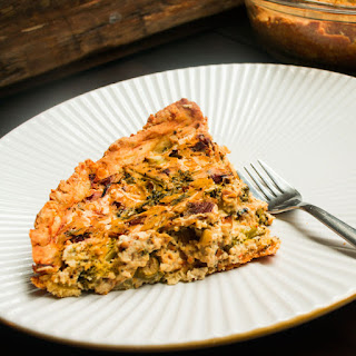 Vegan Broccoli, Bacon & Cheddar Quiche