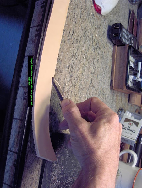 Photo: Step3: Bevel the 4 edges with your preferred edging tool.