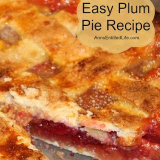 Easy Plum Pie.
