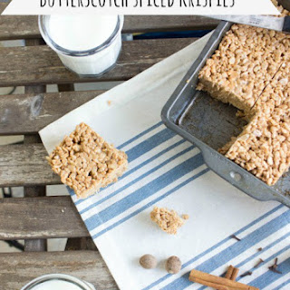 Butterscotch Spiced Krispie Treats