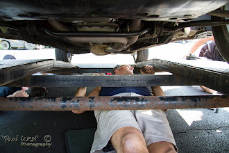 Photo: . . . . Saul was under the car and . . . .