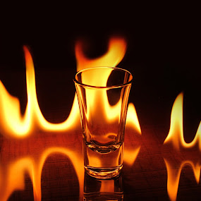 Fire shot by Adam Griffin - Abstract Fine Art ( fire shot glass )