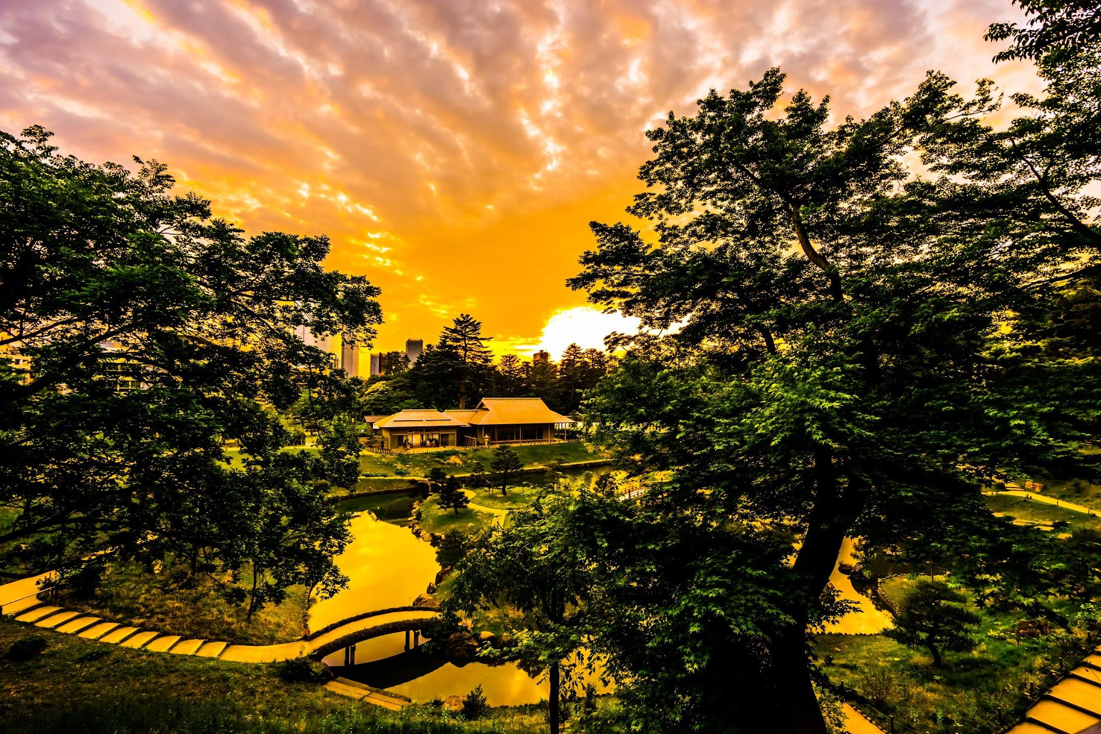 玉泉院丸庭園 夕景2