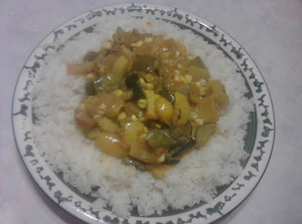 Shai's Veggie Delight Over Jasmine-ginger Rice