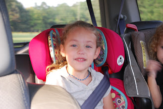 Photo: On our way to Walmart to get decorations for this little girl's birthday!