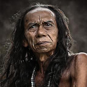 DAYAK SEGANDU by Tedjo Harjanto - People Portraits of Men ( senior citizen )