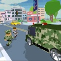 Blocky Army City Rush Racer icon