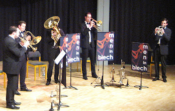 Photo: 2014-SAX MEETS BRASS - in Gilching, Jonny, Martin, Peter Flo, Andy