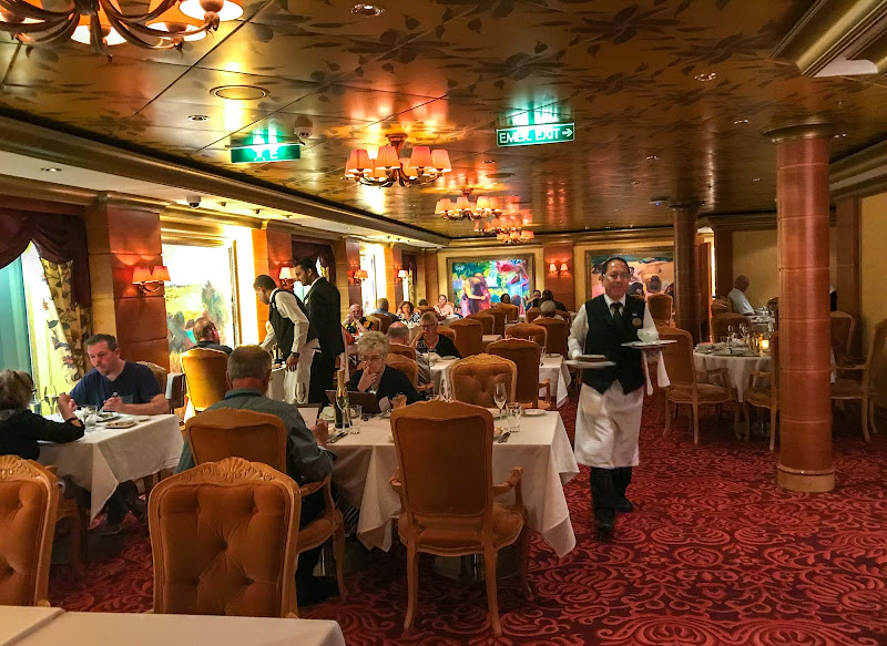 Inside Le Bistro, one of the upscale specialty restaurants on Norwegian  Jade.