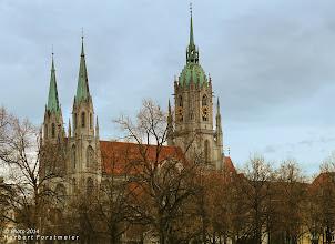 """Photo: St.-Paul-Kirche (St. Pauls)  Paulskirche """"Vorstadtdom"""" mit dem zweithöchsten Kirchturm Münchens."""