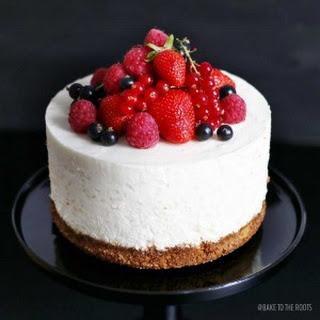Orange Blossom Rice Pudding Cake with Fresh Berries