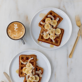 Pumpkin + Coconut Waffles.