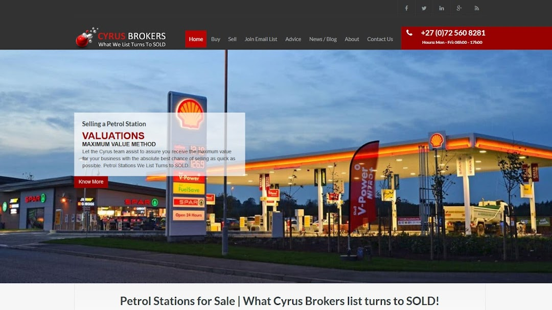 Cyrus Business Brokers - Petrol Stations for Sale