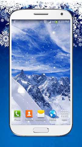 android Snow Live Wallpaper HD Screenshot 1
