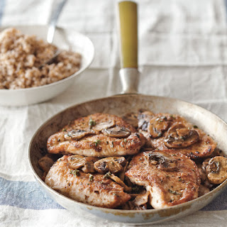 Turkey Cutlets with Mushrooms and Marsala.