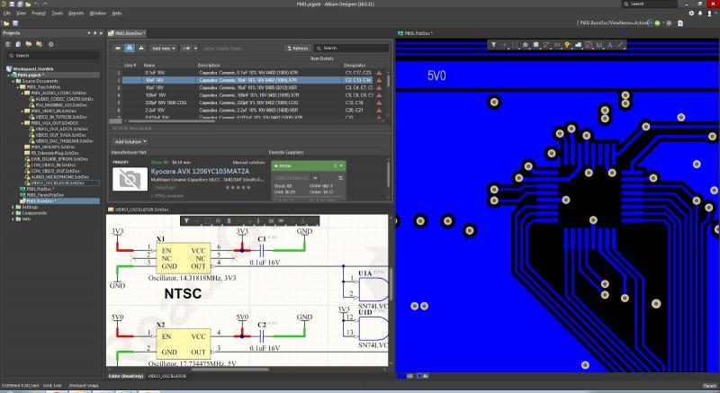 Small circuit board design in Altium Designer