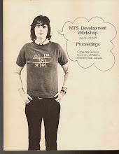 Photo: Front cover, UQV Workshop Proceedings, 1975. Lloyd White, a UQV Computing Services staff member, is pictured.