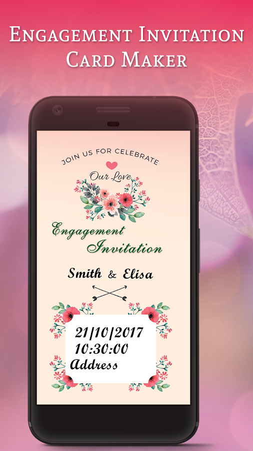 Engagement invitation card maker android apps on google play engagement invitation card maker screenshot stopboris Gallery